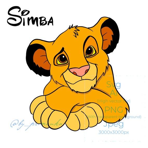 Svg Simba Lion King Cute Simba Svg Layered Free Coloring Etsy