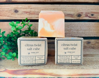 CITRUS TWIST Icelandic Sheep Milk Salt Cube