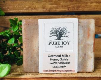 OATMEAL + MILK + HONEY Swirls Icelandic Sheep Milk Soap