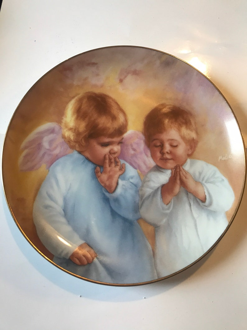Heavenly Helper by MaGo ArtAffects collection ceramic plate