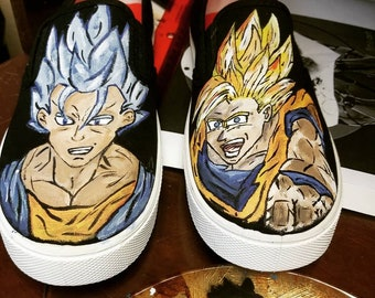 timeless design 8e97c dc727 Hand painted dragonball z shoes