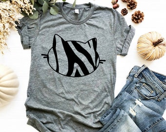 9dcaed0490 Cat Shirt Kitty Kitten T Shirt Tee Mens Womens Ladies Funny Present I Love  Cats Animal Lover T-shirt Whiskers Face Girlfriend Fashion Cute