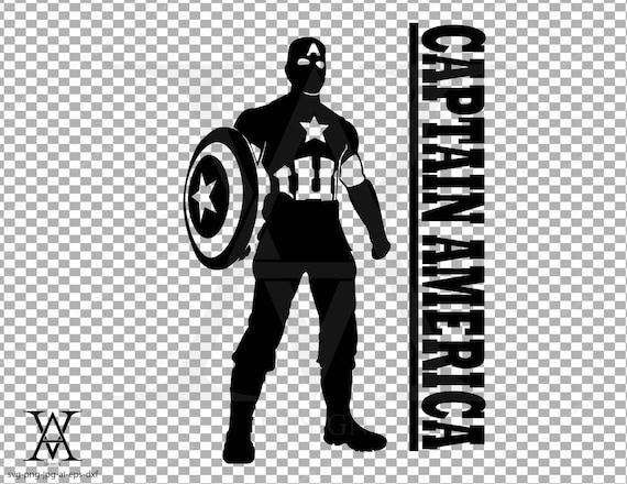 captain america silhouette logo clipart instant download etsy captain america silhouette logo clipart instant download svg png eps dxf ai jpg