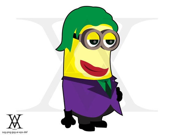 Minions Joker Clipart Vector Instant Download Etsy