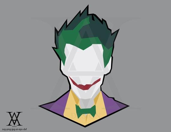 Joker Clipart Vector Dc Comic Instant Download Etsy