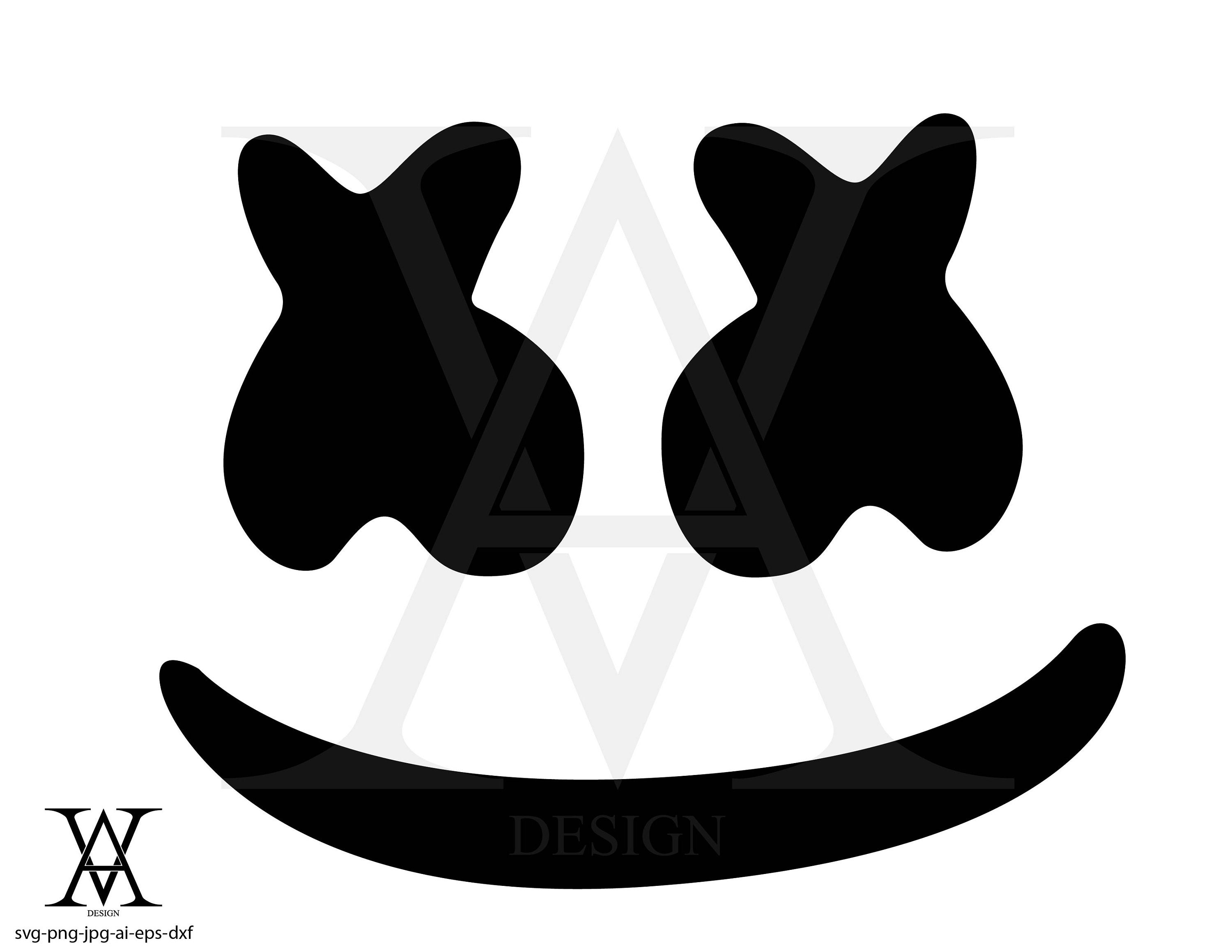 Dj marshmello, face, silhouette, clipart, vector  INSTANT DOWNLOAD,  svg-png-eps-dxf-ai-jpg