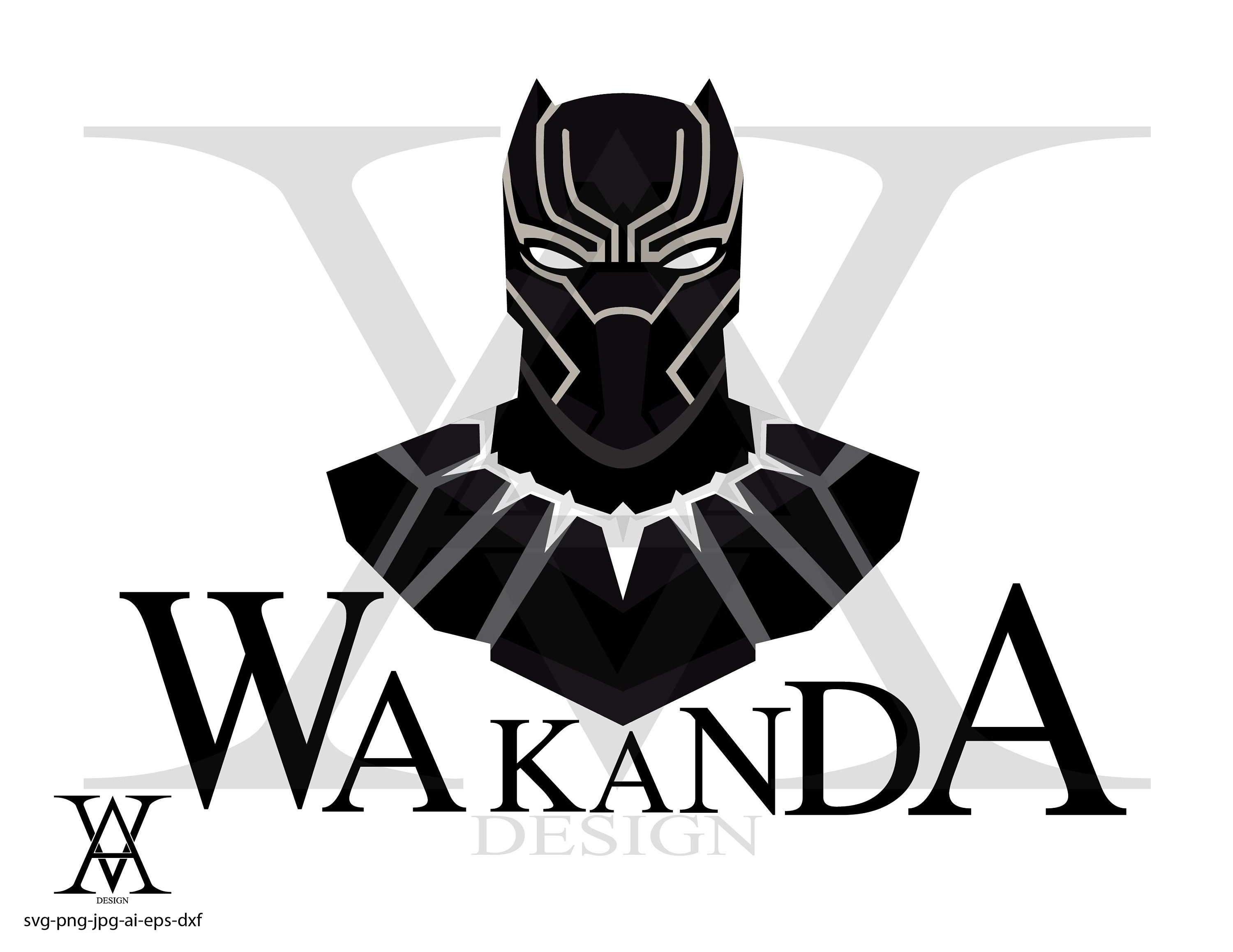 Black Panther clipart logo vector. INSTANT DOWNLOAD   Etsy