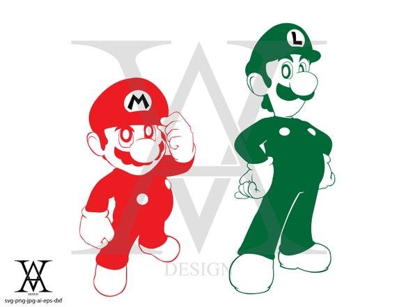 Mario And Luigi Vector Clipart Instant Download Etsy