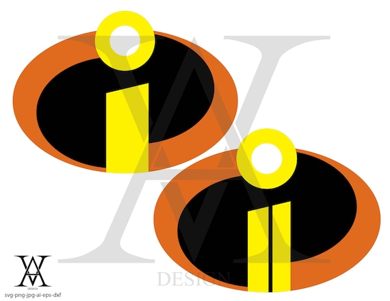 The Incredibles Logo Vector Instant Download Etsy