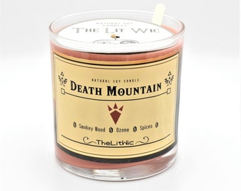 Death Mountain Legend of Zelda Inspired 9oz. Natural Soy Wax Candle