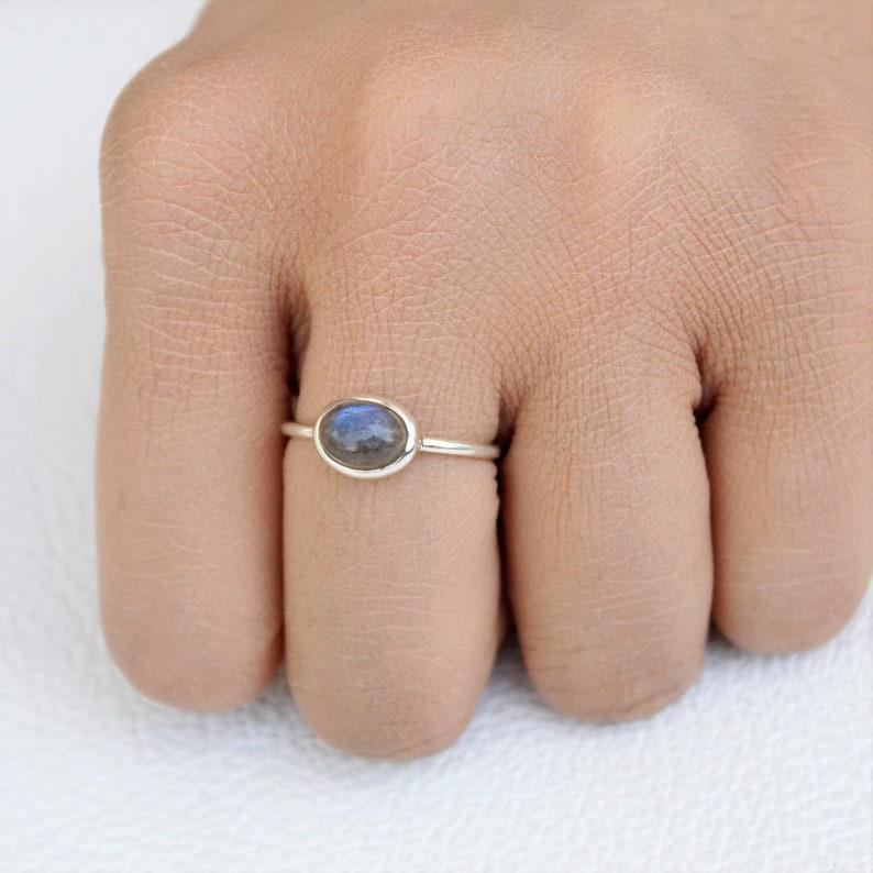 Labradorite Ring-Sterling Silver Ring-Labradorite Stone-Beautiful Ring-Natural Stone-Handmade Ring-Labradorite-Free Shipping
