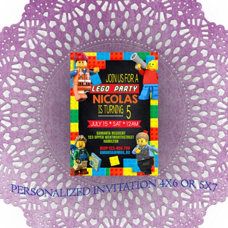 Lego Birthday Invitations Party