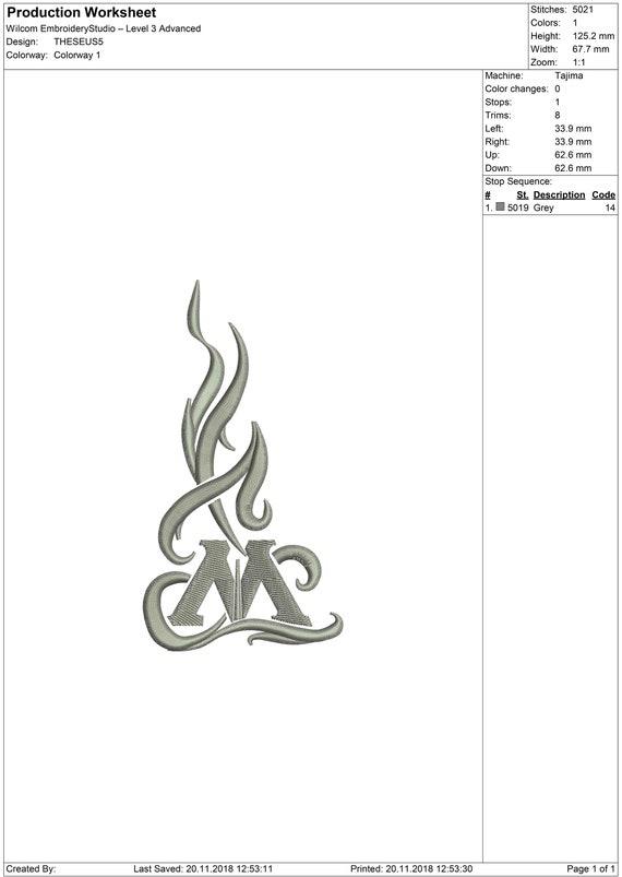Theseus Scamander, Auror - Fantastic Beasts - Embroidery design