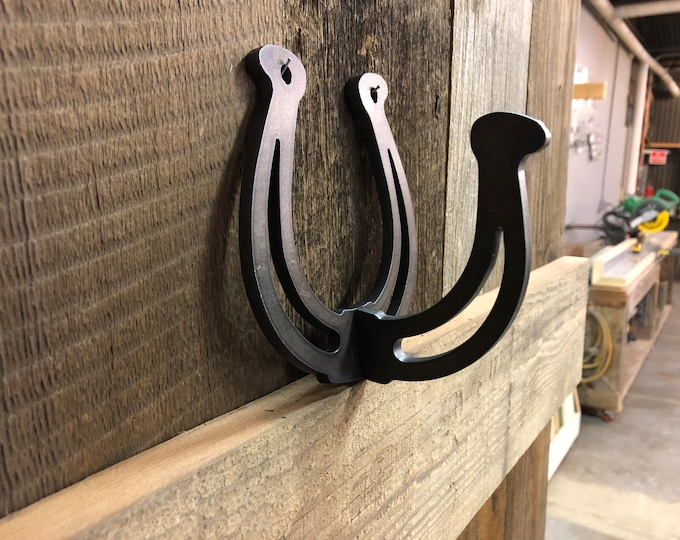 Tack Hook, Rope Hook, Barn Hook, Halter Hook, Shop Rack, Metal Art, CNC Art, Metal Sign, Ranch Sign, Horseshoe Hook, Barrel Racer,