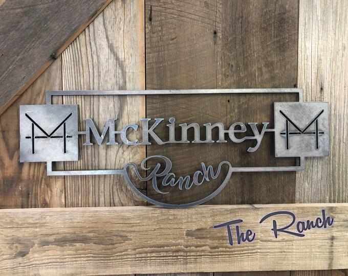 Plasma Cut Metal Art, Rustic Ranch Sign, racing sign, above bed decor, custom metal sign, metal letters, wall art, metal farm sign, plasma
