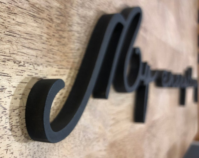 """Above bed decor, Plasma Cut Metal Art, Metal Script or Saying Sign, Quality 3/8"""" thick steel"""