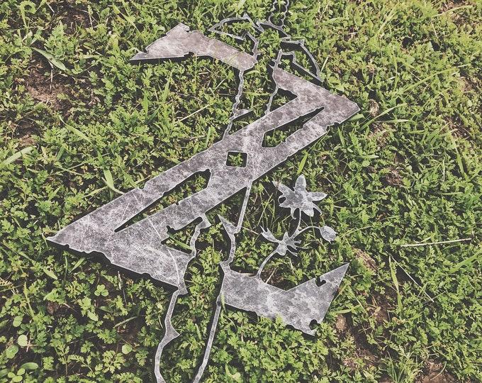 Legend of Zelda, Above Bed Decor, Metal Sign Art, Metal Sign Custom, Metal Sign Family, Metal Sign Letters, Monogram Sign, Kid's Room Decor