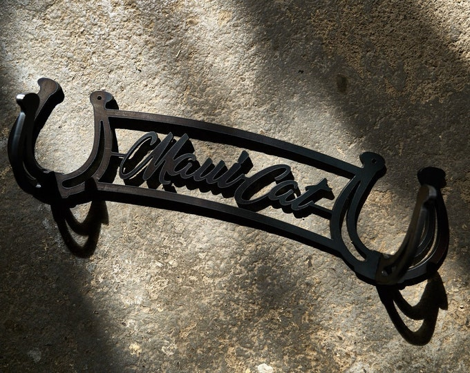 Metal hook, Horse Stall Name Plate, Wall Decor, Ranch Sign, Ranch Decor, Horse Art, Horse Decor, Metal Sign, Stall Name Plate