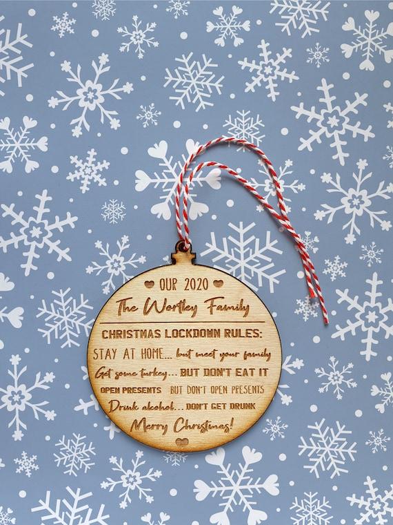Christmas Lockdown Rules Funny Christmas Gift Covid Etsy