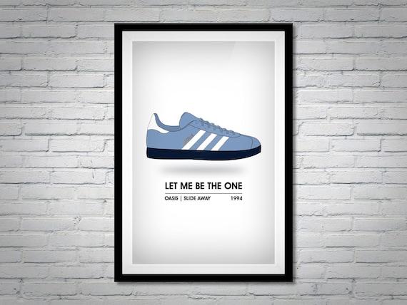 świeże style najlepszy wybór tak tanio Adidas Gazelle Stockholm Illustrated Poster Print - Trainer Print -  Impossible is Nothing - Oasis - 1994 - Retro - Sneaker Digital Art