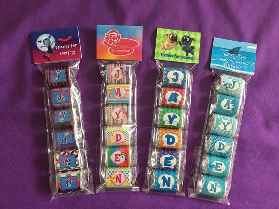 BUBBLE GUPPIES PERSONALIZED HERSHEY/'s NUGGET WRAPPERS BIRTHDAY PARTY FAVORS