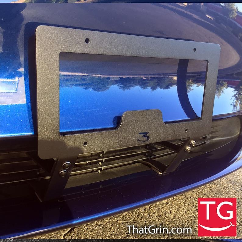 Tesla Model 3 Front License Plate Frame Mount ThatGrin | Etsy