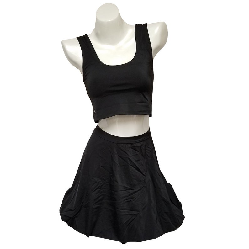SKIRT with CROP TOP  Basic Black image 0