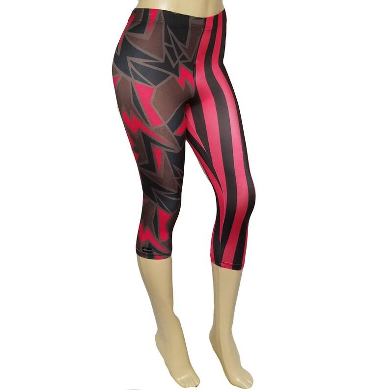 Sale Large  Capri: Metamorphosis w/ Red/Black Stripe image 0
