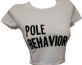 Pole Fitness Crop Top GRAY
