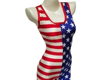 Singlets: American Flag - Wrestling, Cross-fit, Power Lifting, Workout