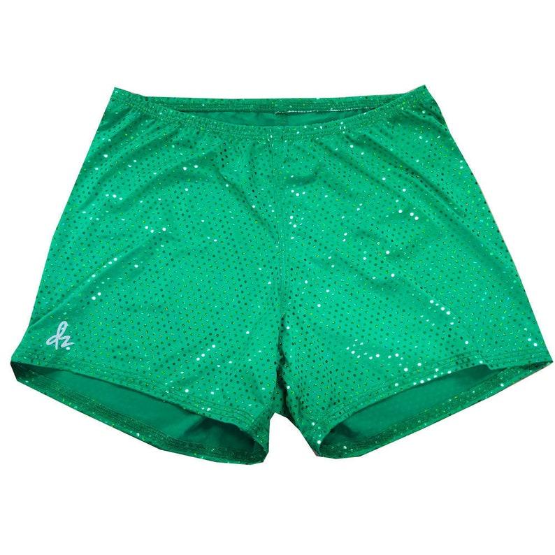 Shorts  DerbySkinz Green disco  Booty Short  Spandex image 0