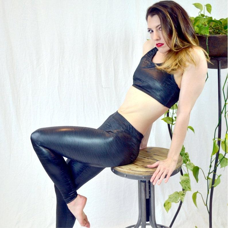 Sale X-Large  Leggings: Hela Venom Black Grippy image 0