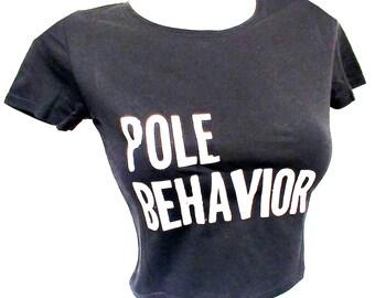 Pole Fitness Crop Top BLACK
