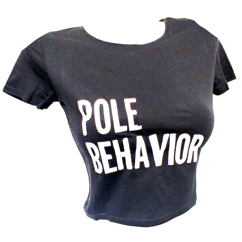 Pole Fitness Crop Top BLACK image 0