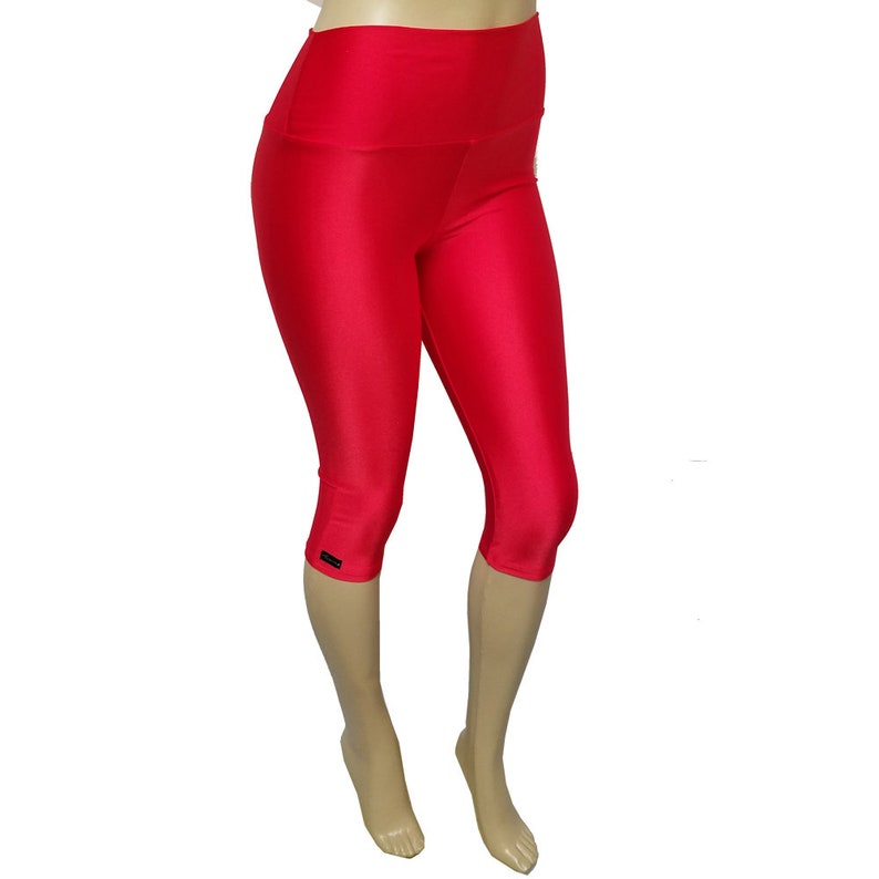 Sale Small  High Waisted Capris: Red image 0