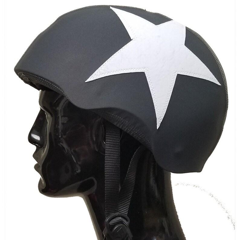 Helmet Panties  Helmet Cover  Matte Black with Matte White image 0