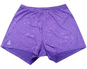 Shorts - DerbySkinz Purple Disco - Booty Short,  Spandex, Jogging, Swimming, Sports