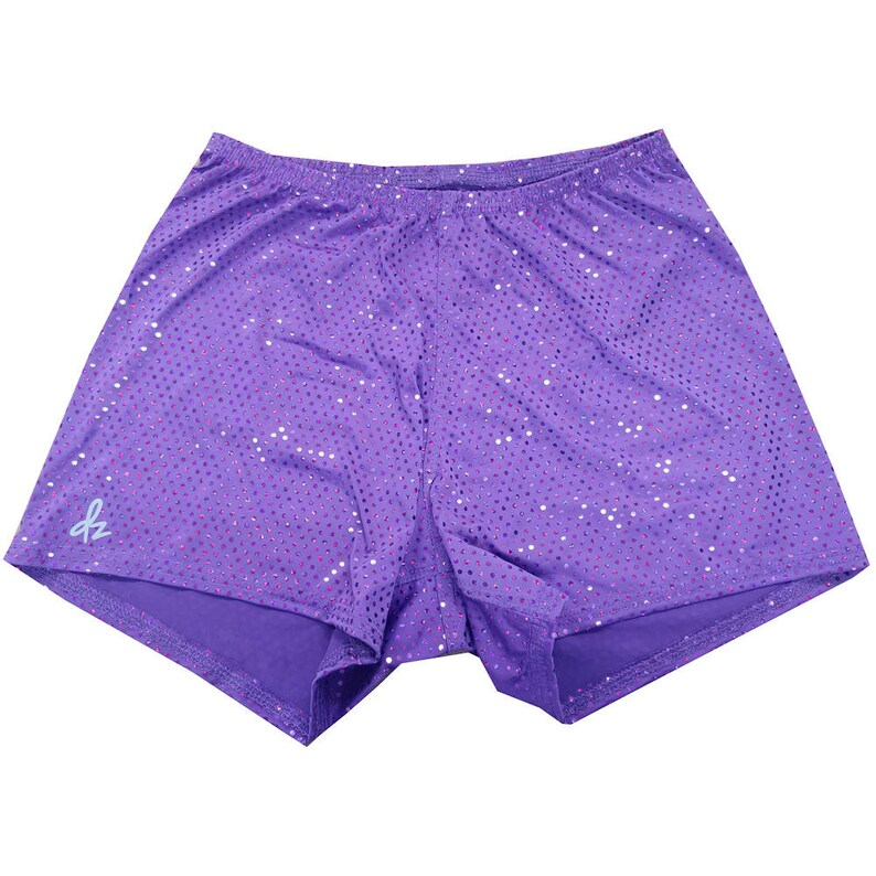 Shorts  DerbySkinz Purple Disco  Booty Short  Spandex image 0