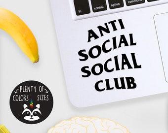 04f237df3d00 Anti Social Socilal Club Logo Laptop Decal