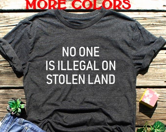 No Human is Illegal Boys Short-Sleeve Shirts