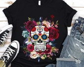 Dia de los Muertos Shirt,Sugar Skull,Day of the Dead,Mexican Halloween Shirts,Mexican shirt Women,Mexican Halloween Costume,skull shirt