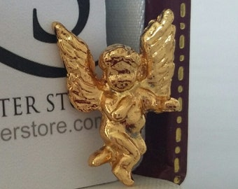 Angel on My Shoulder Sitting Pin Gold 24 Pins on Cards