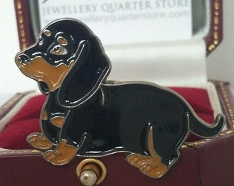 DACHSHUND DOG Hand Made in UK Pewter Lapel Pin Badge