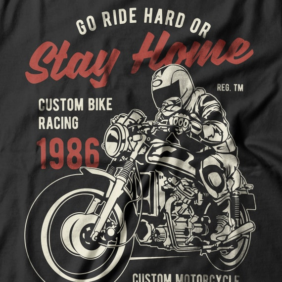 Bike Racing T Shirt Motorcycle Art Art Print Clothing Art Clothing Print T Shirt Gift Men Clothing Gift For Him Personalized Gift