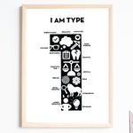 """Enneagram ONE Print - """"I Am Type 1"""" - Just My Ennea Type Collaboration"""