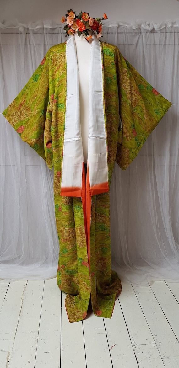 Gorgeous Vintage 1970s/80's Japanese Lime Green Si