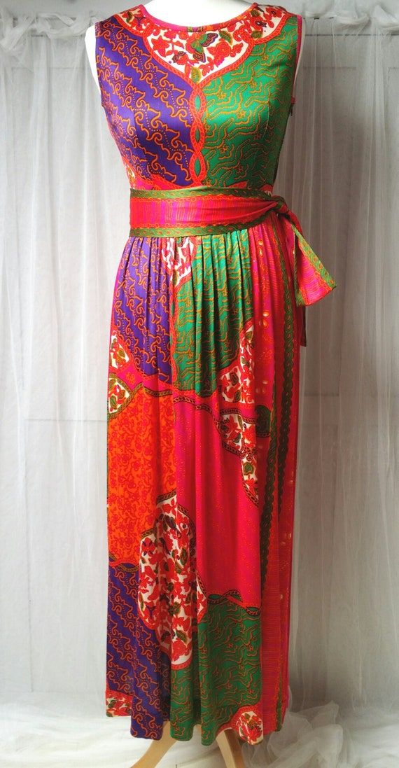 Gorgeous Vintage 1970s Susan Small Psychedelic Pi… - image 3