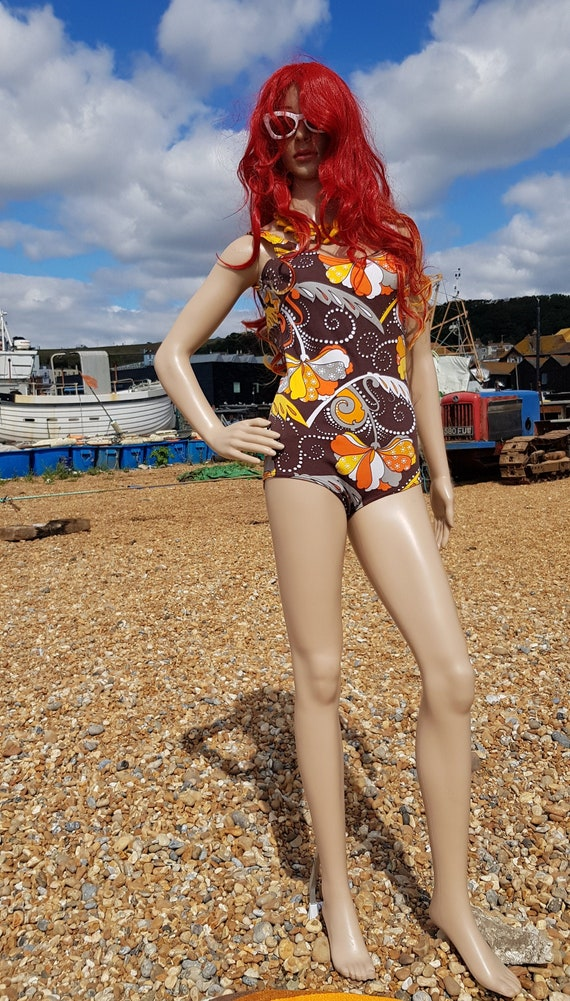 Gorgeous Vintage 1960s/1970s Psychedelic Brown and