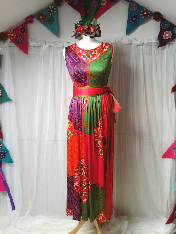 Gorgeous Vintage 1970s Susan Small Psychedelic Pi… - image 2