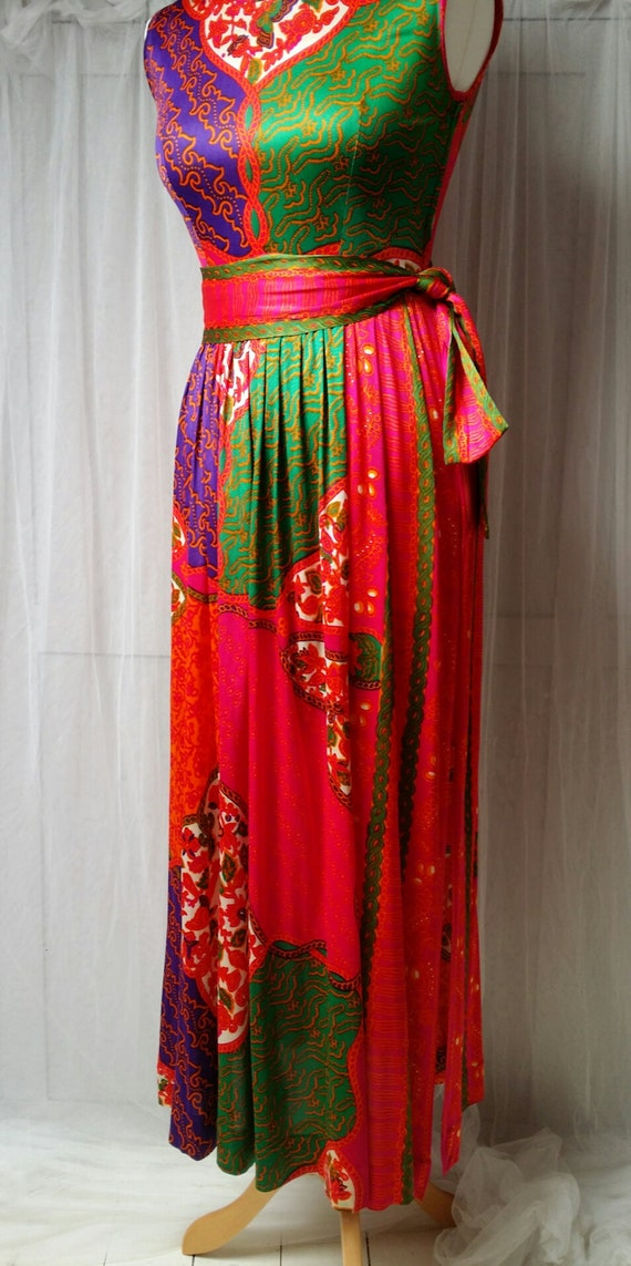 Gorgeous Vintage 1970s Susan Small Psychedelic Pi… - image 7